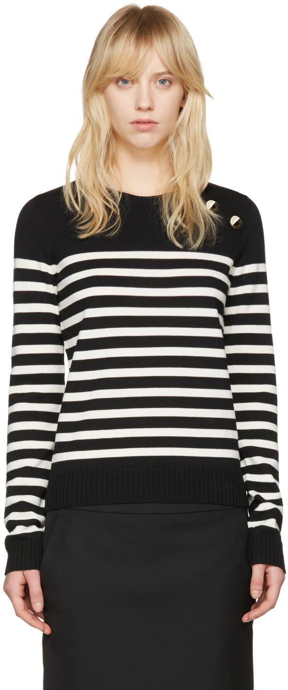 Saint Laurent Black Striped Sweater
