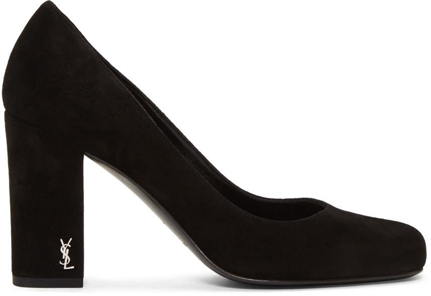 Saint Laurent Black Suede Babies Heels
