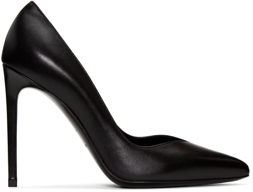 Saint Laurent Black Paris Skinny Heels