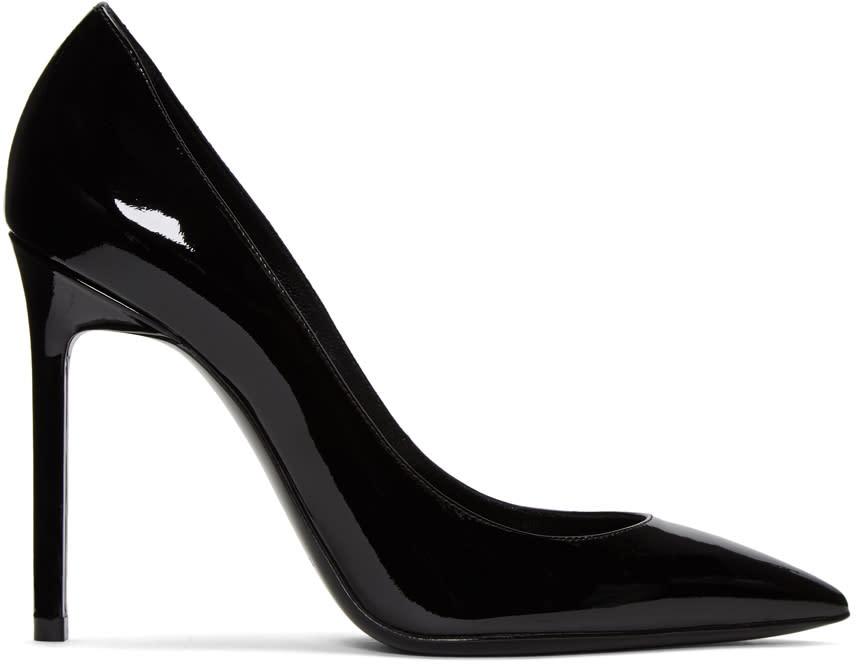 Saint Laurent Black Patent Leather Anja Heels