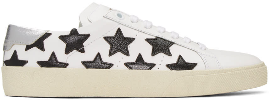 Saint Laurent Off-white Court Classic Stars Sneakers