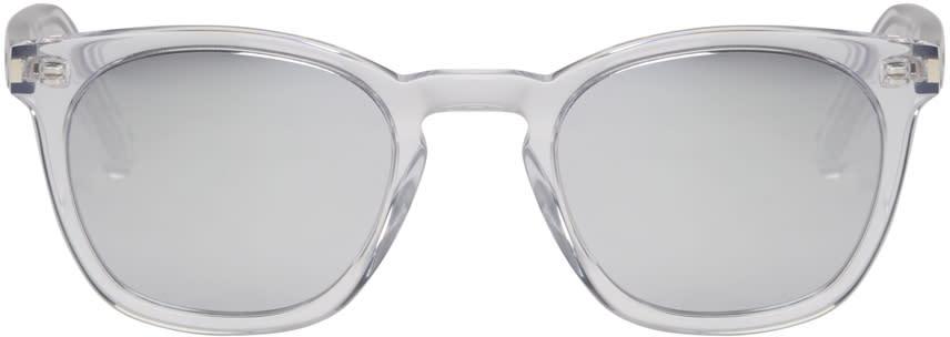 Saint Laurent Transparent Sl 28 Sunglasses