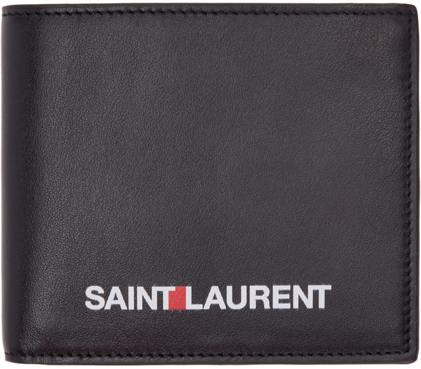 Saint Laurent Black Rive Gauche Wallet
