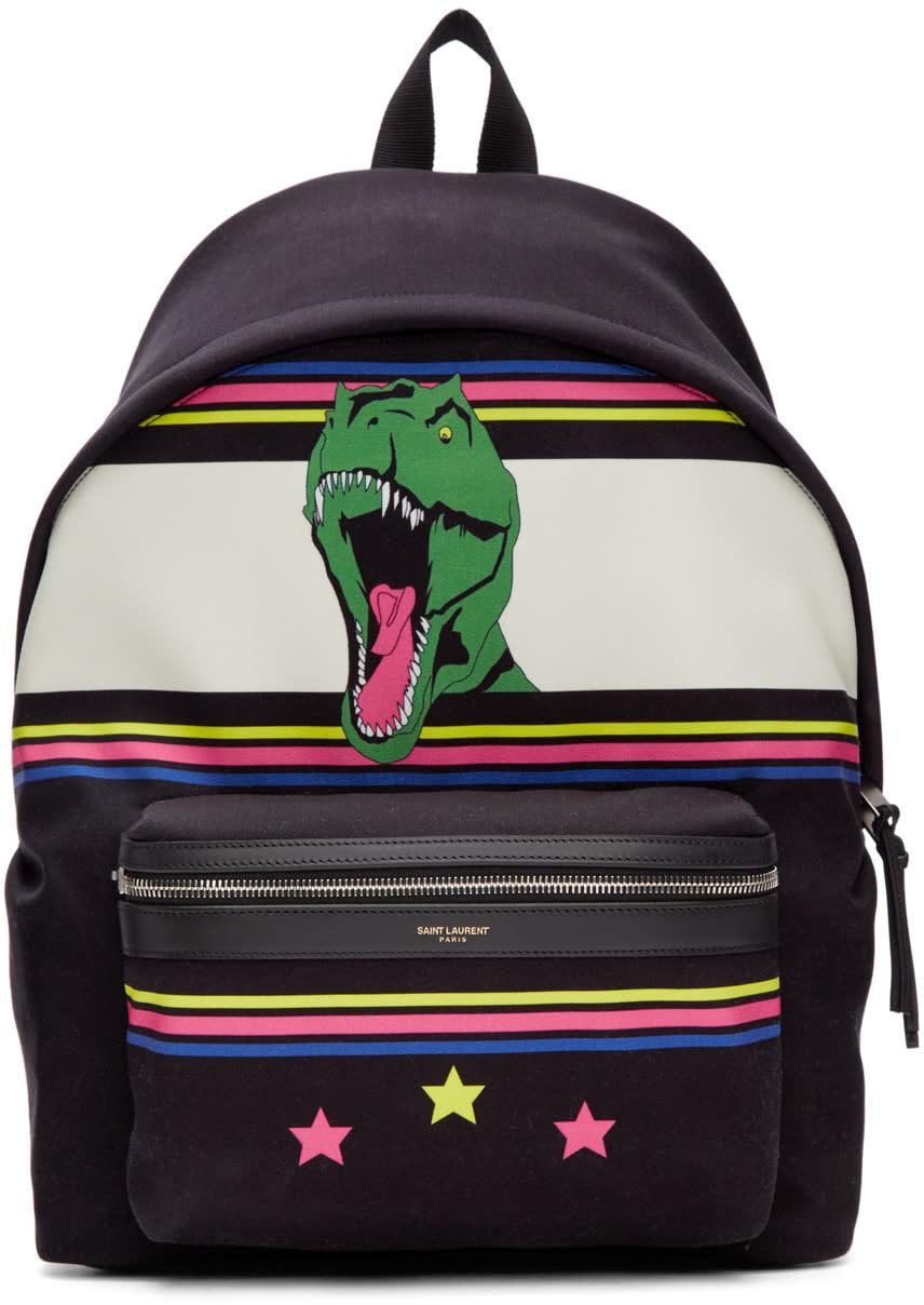 Black Dino City Backpack