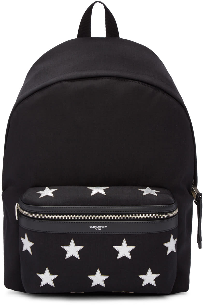Black Canvas Stars Backpack