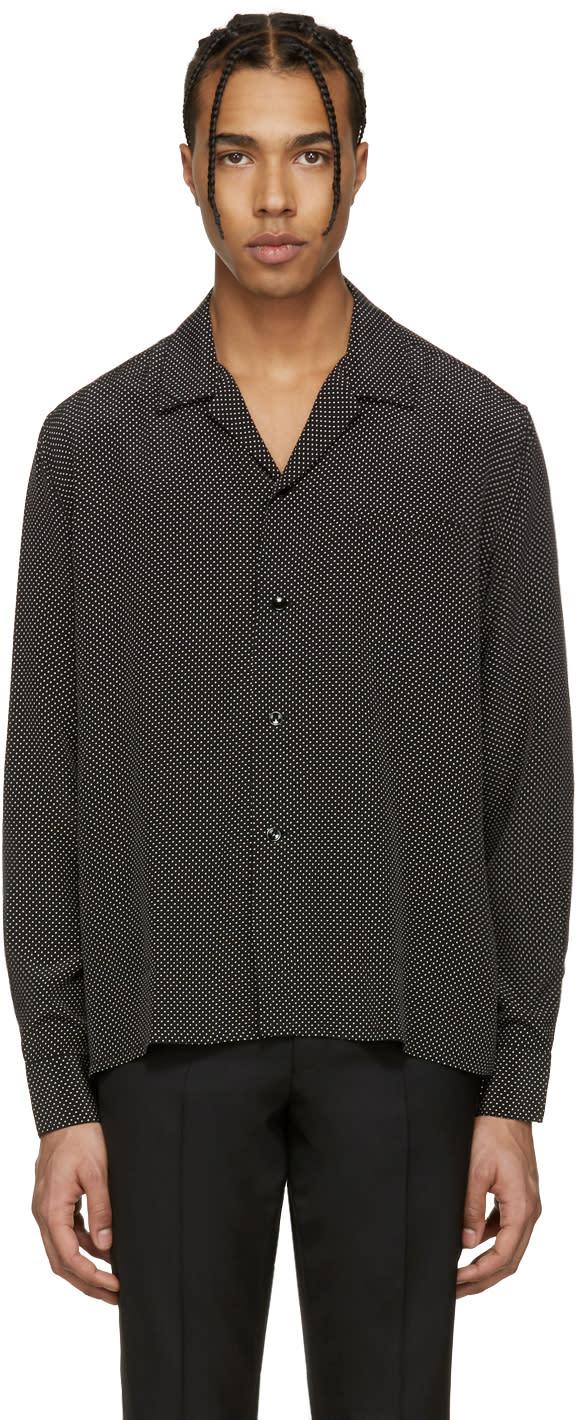 Saint Laurent Black Pyjama Collar Shirt