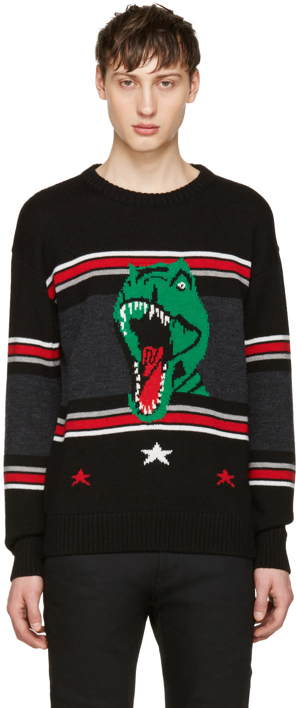 Saint Laurent Black T-rex Sweater