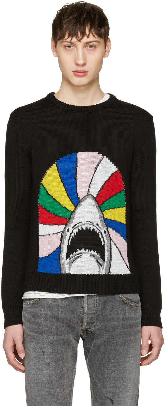 Saint Laurent ブラック シャーク セーター