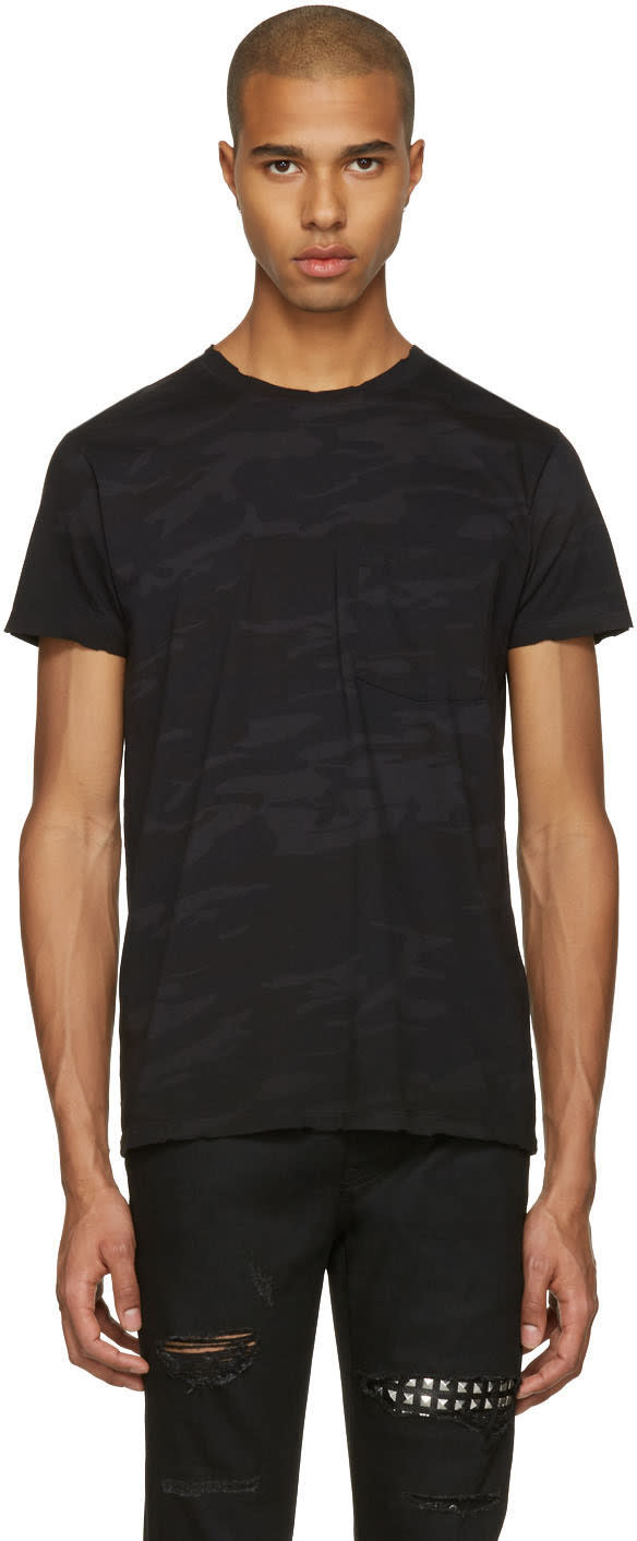 Saint Laurent Black Camo T-shirt