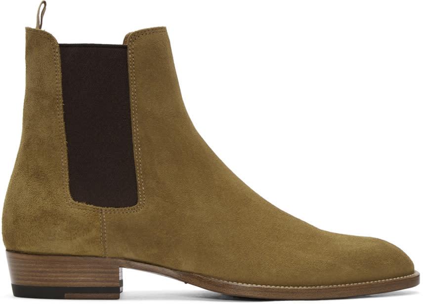 Tan Suede Wyatt Boots