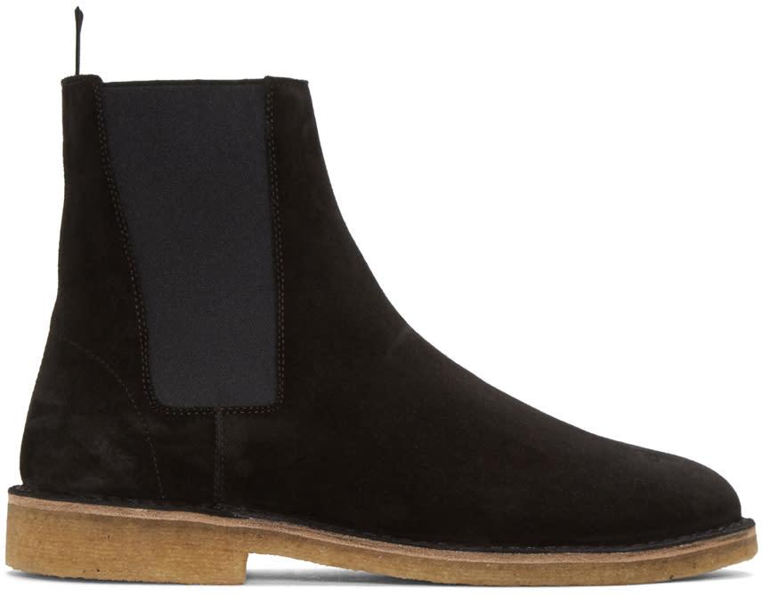 Saint Laurent Black Suede Nevada Boots