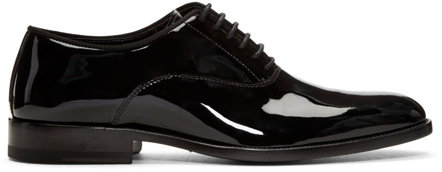 Black Patent Leather Dylan Oxfords