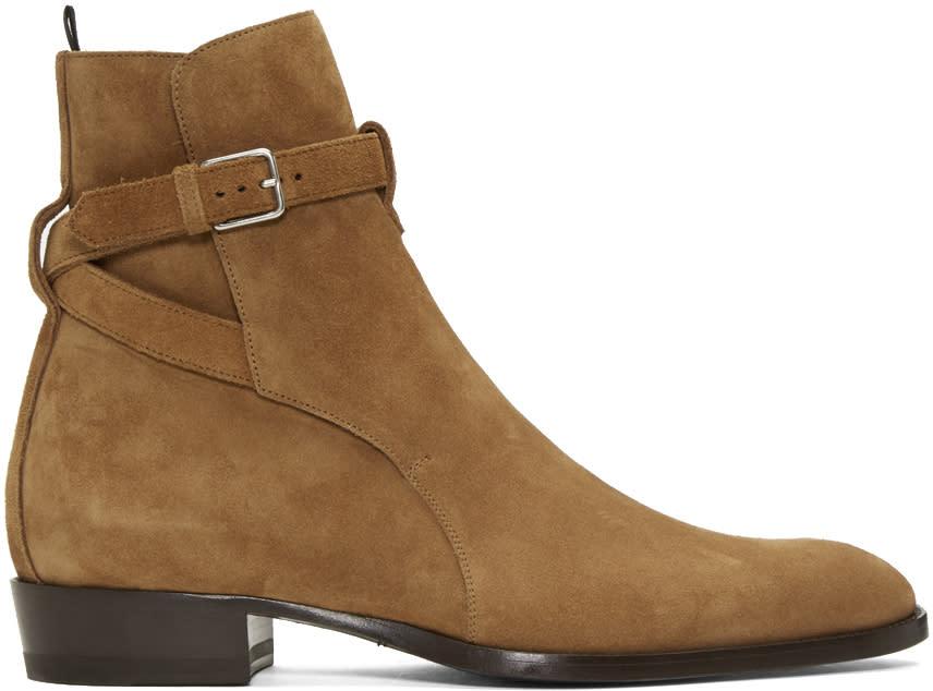 Brown Suede Wyatt Jodhpur Boots