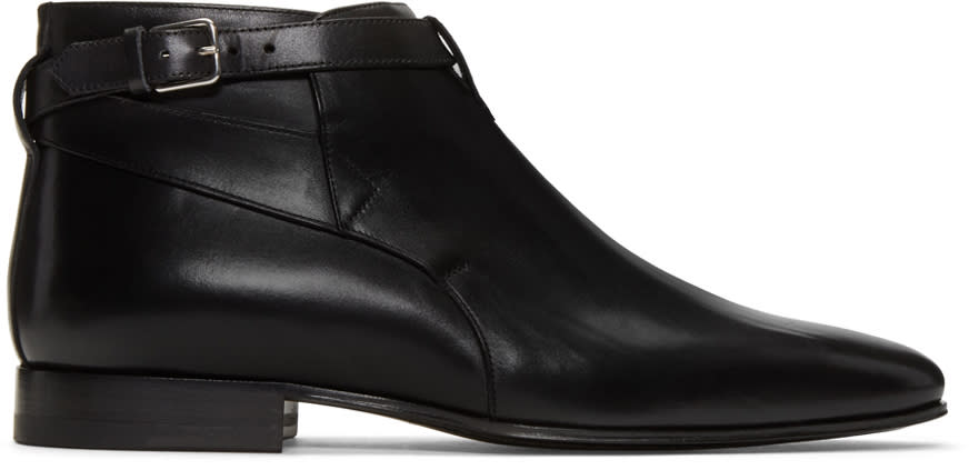 Black Leather London Boots