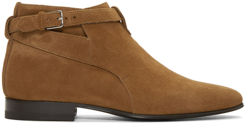 Brown Suede London Boots