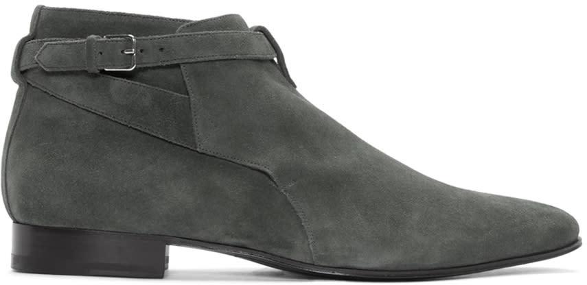 Grey Suede London Jodhpur Boots