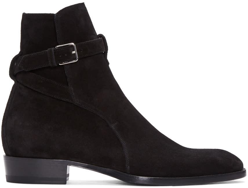 Black Suede Wyatt Jodhpur Boots