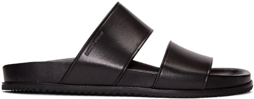 Black Leather Nu Pied Sandals