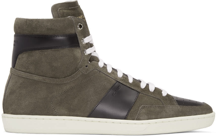 Tan Suede Sl-10h Court Classic High-top Sneakers