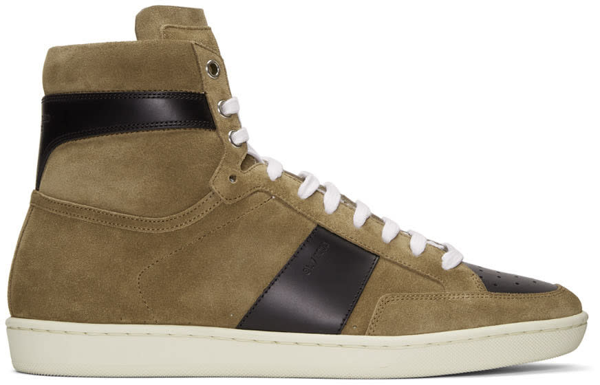 Brown Suede Sl-10h Court Classic High-top Sneakers