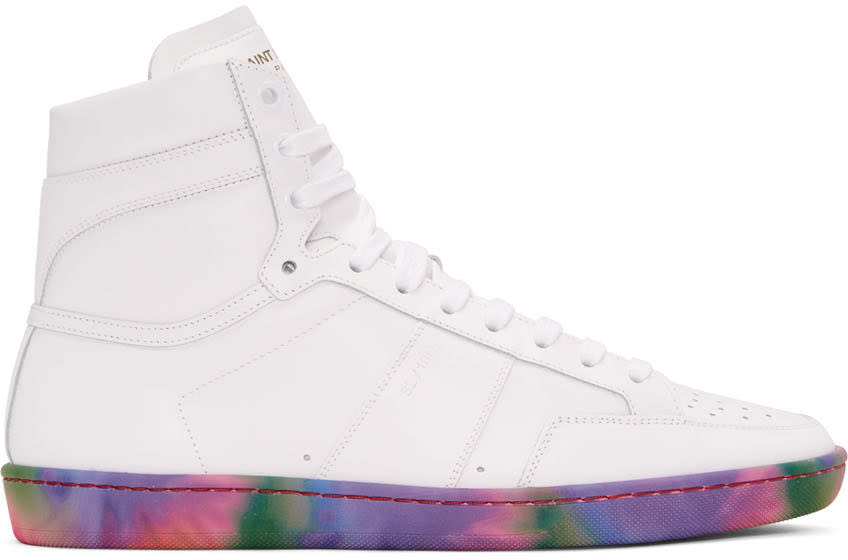Off-white Leather Sl-10h Court Classic High-top Sneakers