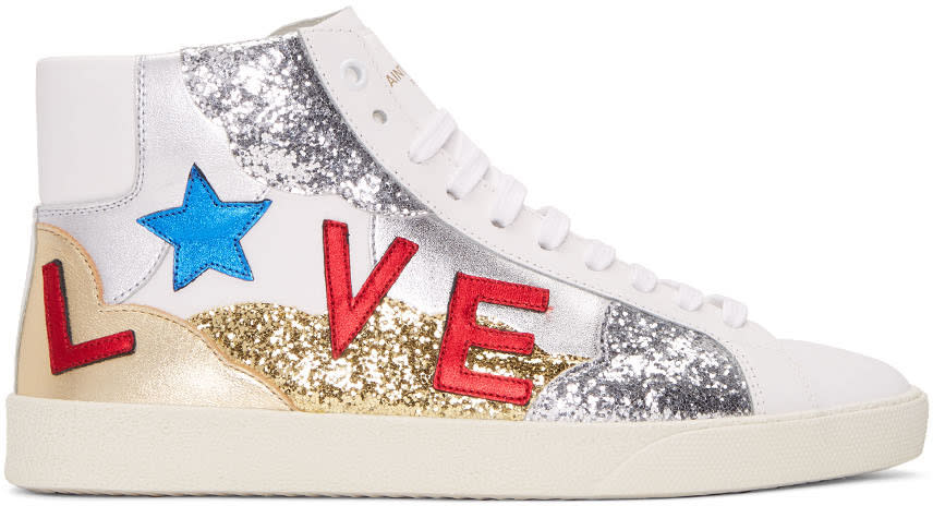 White love Sl-06m Court Classic High-top Sneakers