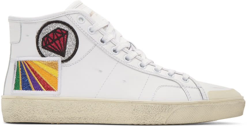 White Diamond Sl-37m Surf Court Classic Mid-top Sneakers