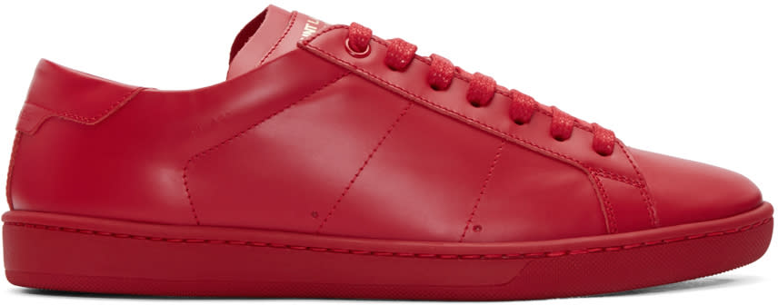 Saint Laurent Red Court Classic Sl-01 Sneakers
