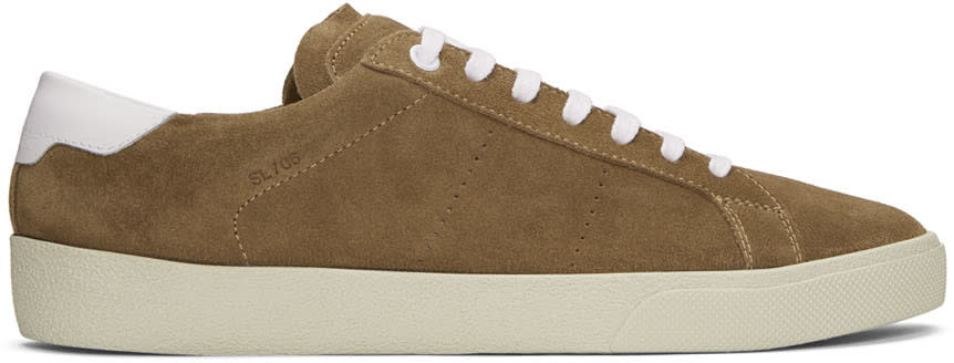 Brown Suede Sl-06 Court Classic Sneakers
