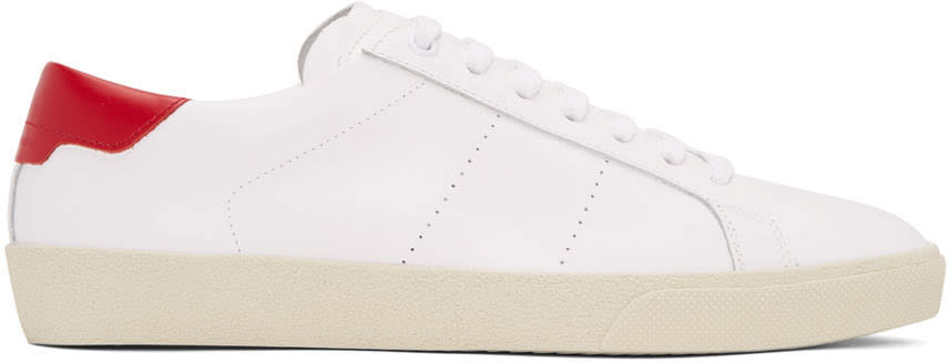 Saint Laurent White Sl-06 Court Classic Sneakers