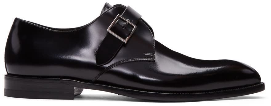 Saint Laurent Black Jude Monkstraps