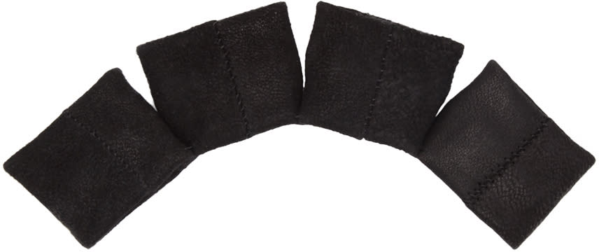 Julius Black Leather Knuckle Glove