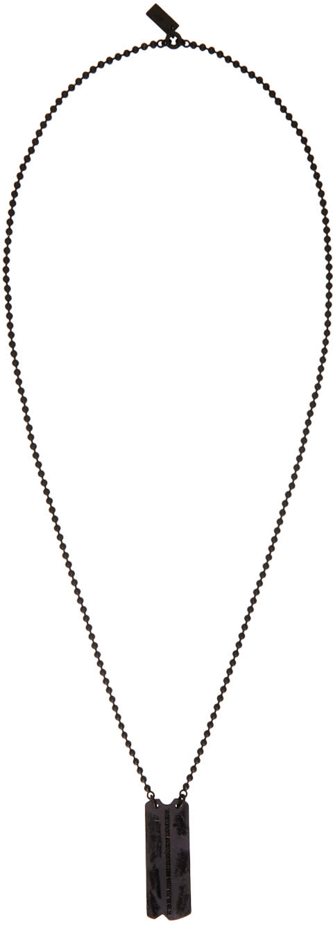 Julius Black Dog Tag Necklace