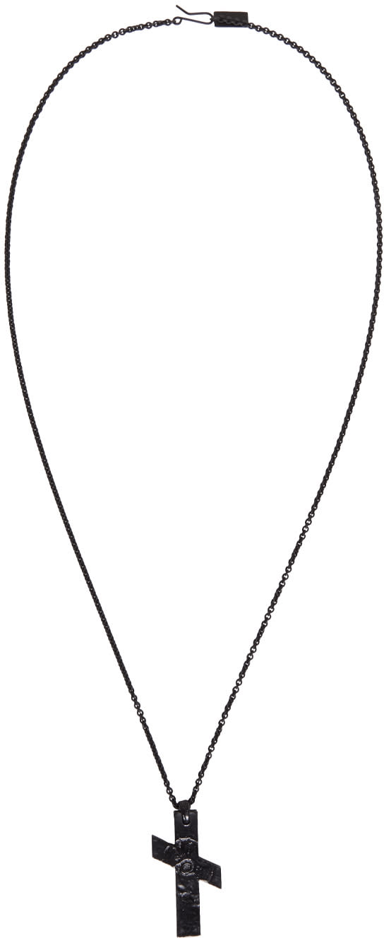 Julius Black Cross Necklace
