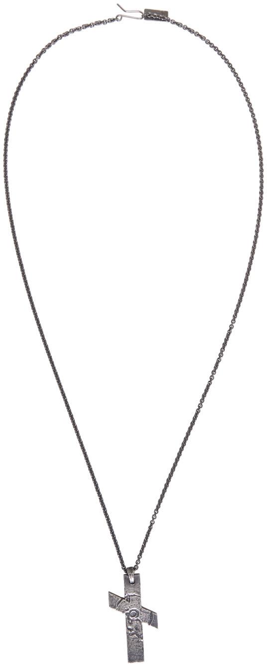 Julius Silver Cross Necklace
