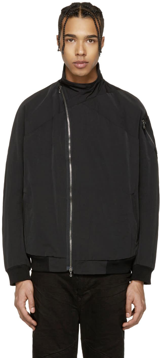 Julius Black Asymmetric Bomber Jacket