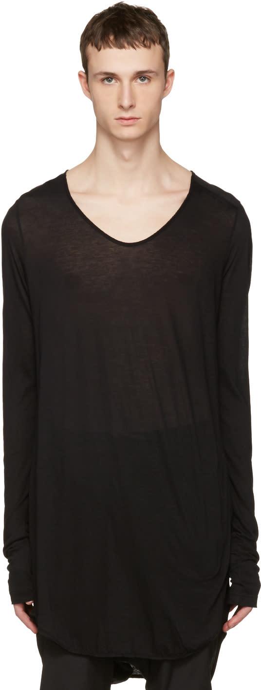 Julius Black Round Cut and Sewn T-shirt