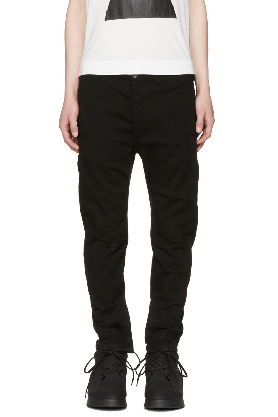 Julius Black Zip Cuff Jeans