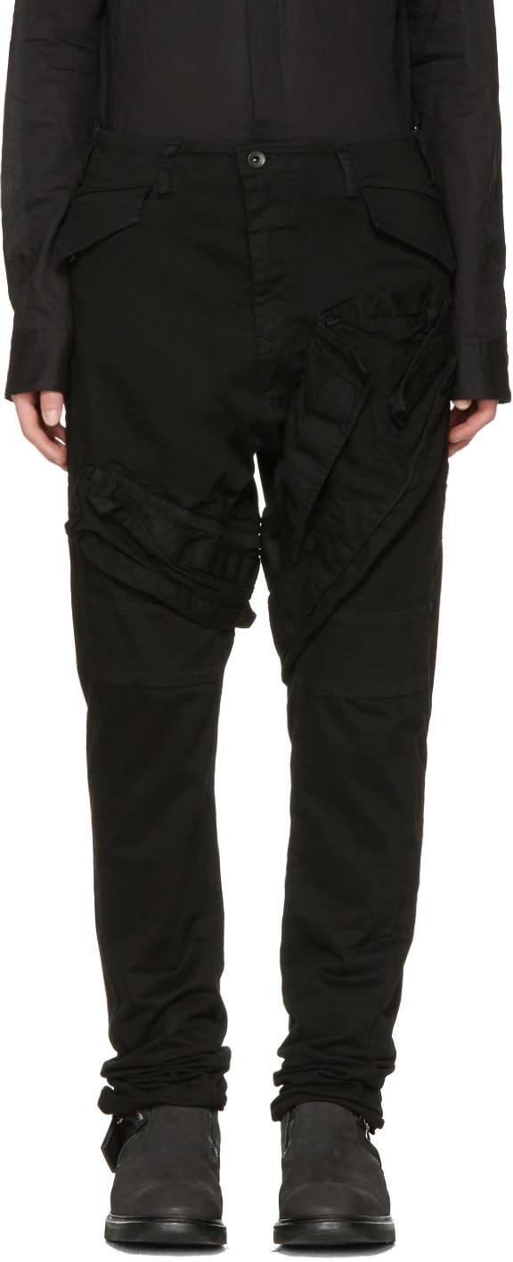 Julius Black Signature Cargo Pants