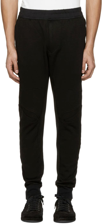 Julius Black Knee Details Lounge Pants