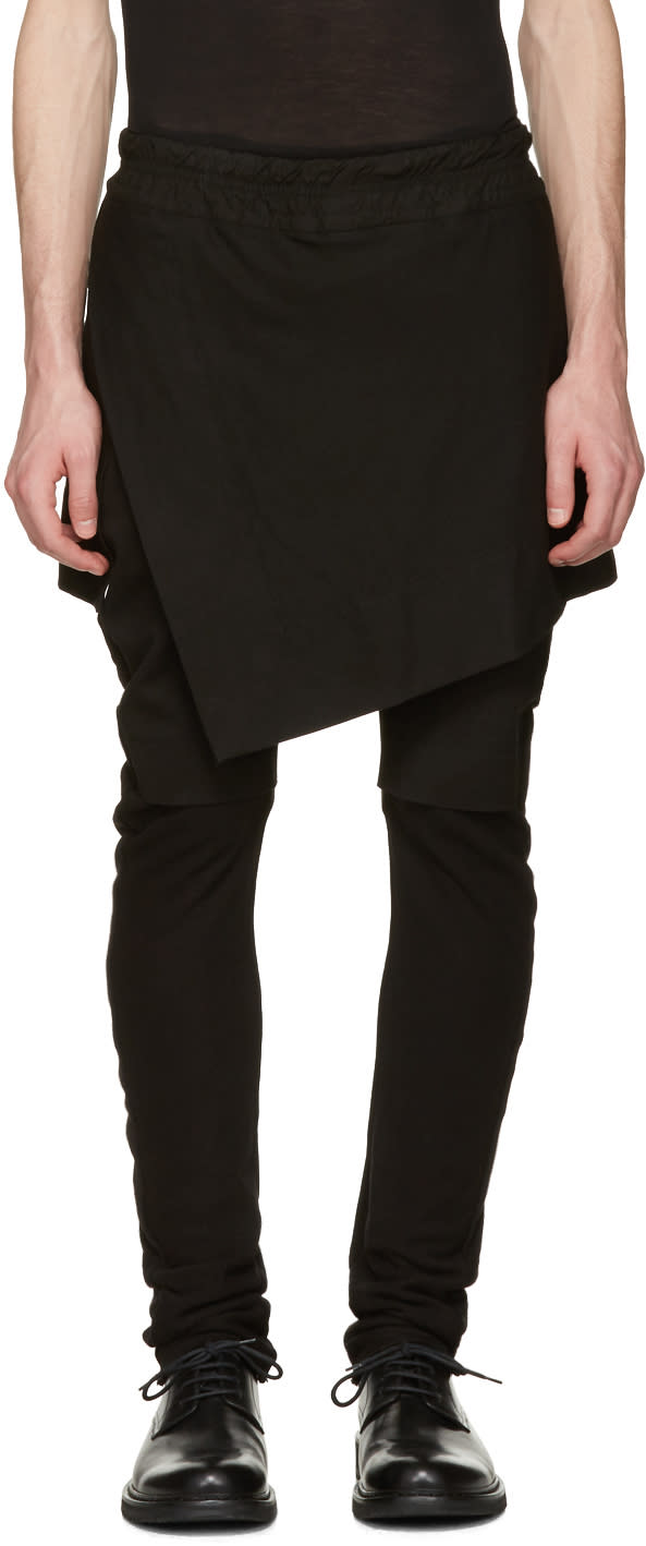Julius Black Indirect Combination Trousers