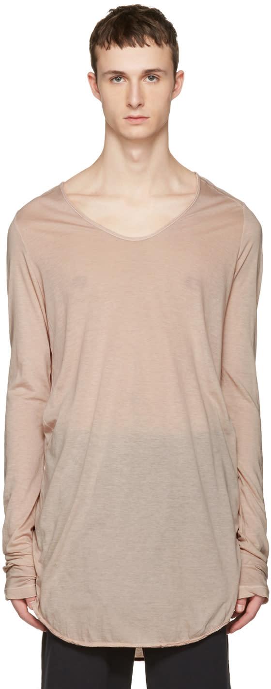 Julius Pink Round Cut and Sewn T-shirt