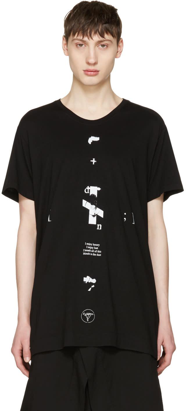 Julius Black downwards T-shirt