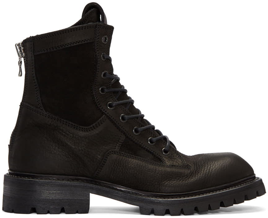 Julius Black Combat Boots
