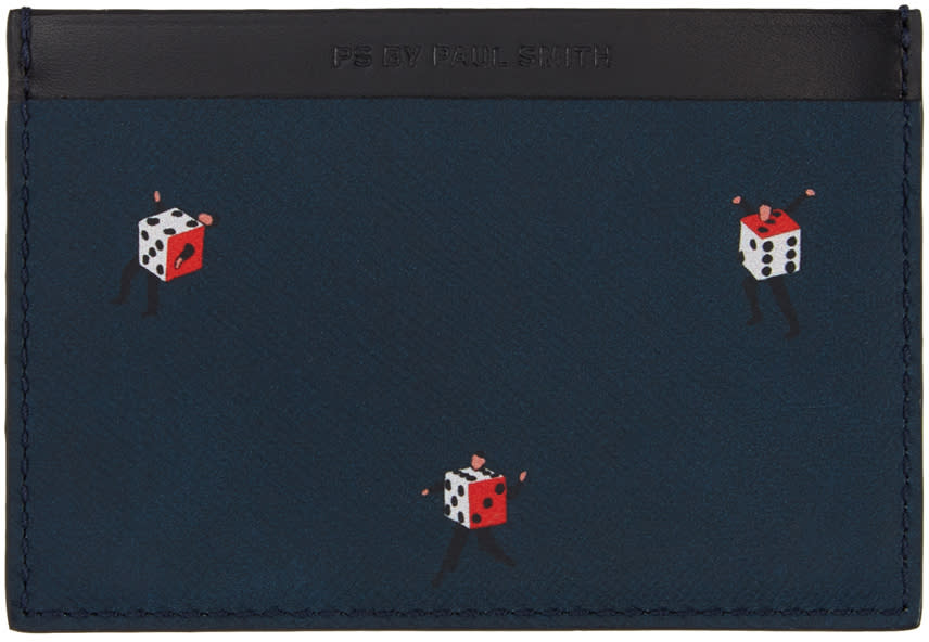 Ps By Paul Smith Multicolor Dancing Dice Card Holder