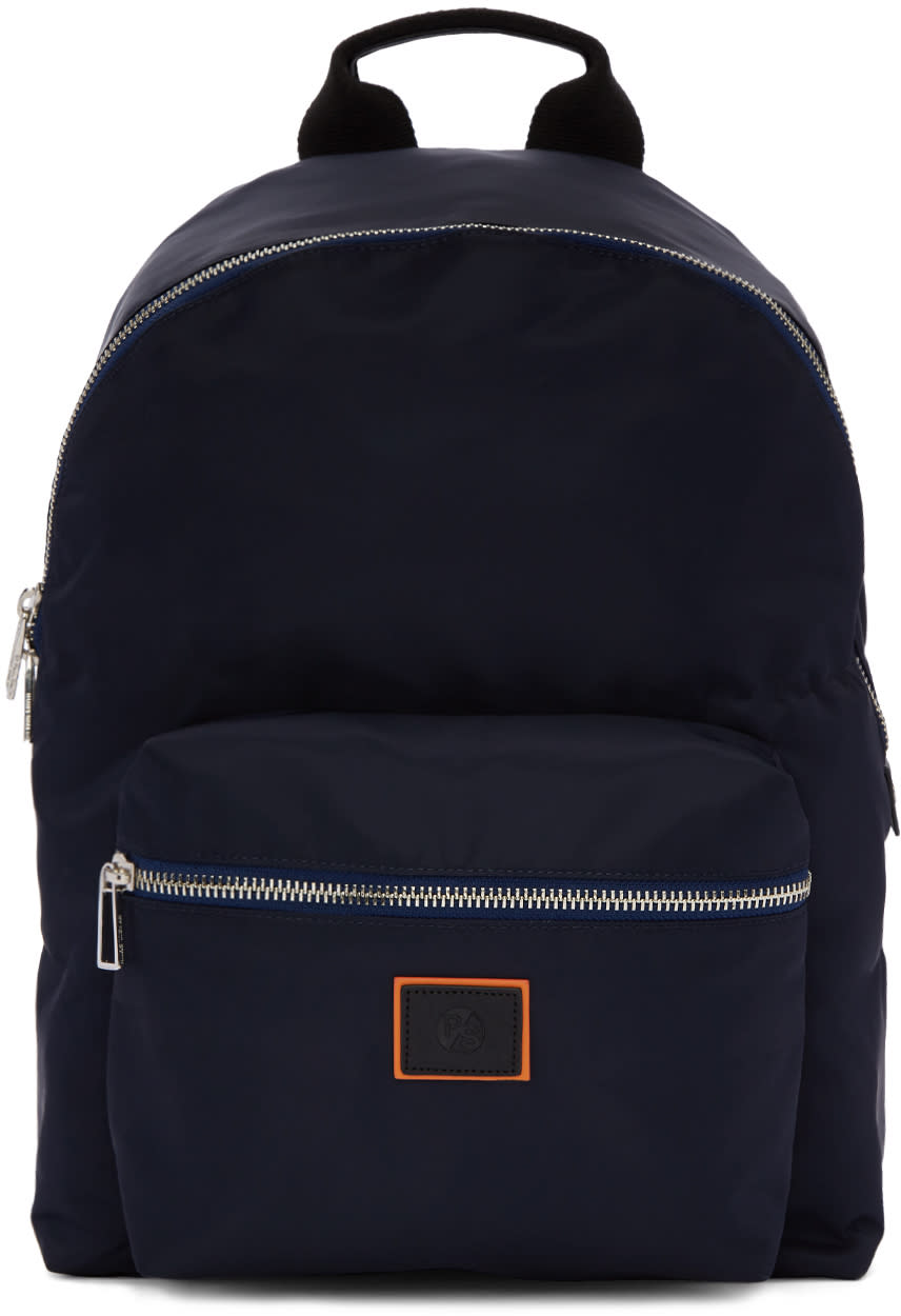 Ps By Paul Smith Navy Nylon Backpack