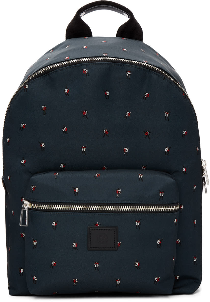 Ps By Paul Smith Green dancing Dice Backpack