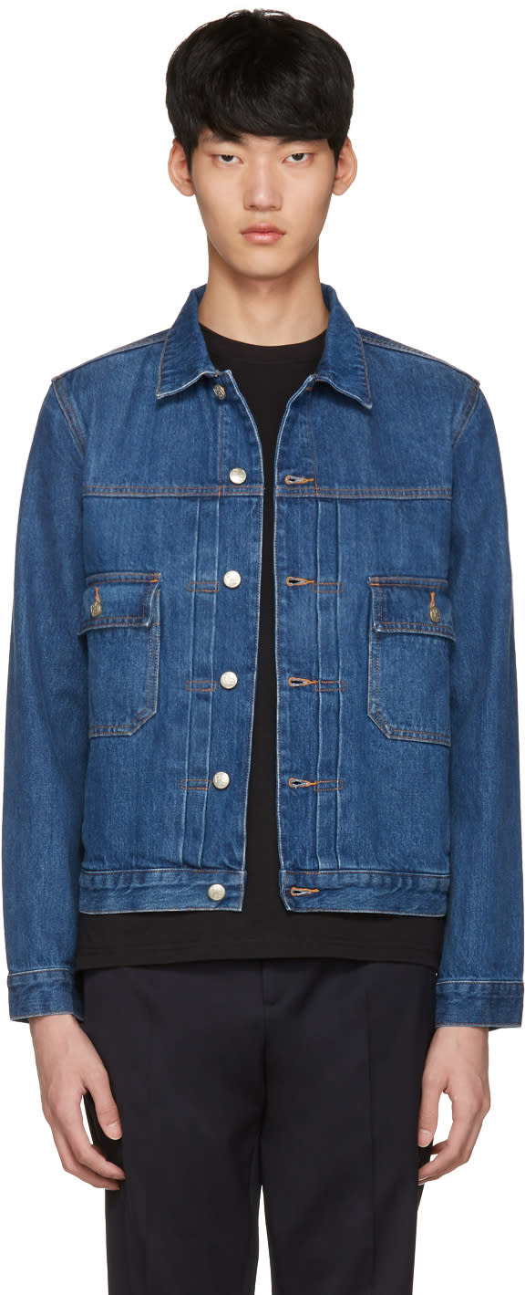 Ps By Paul Smith Blue Denim Western Jacket