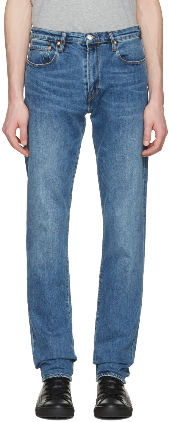 Ps By Paul Smith Blue Tapered Jeans