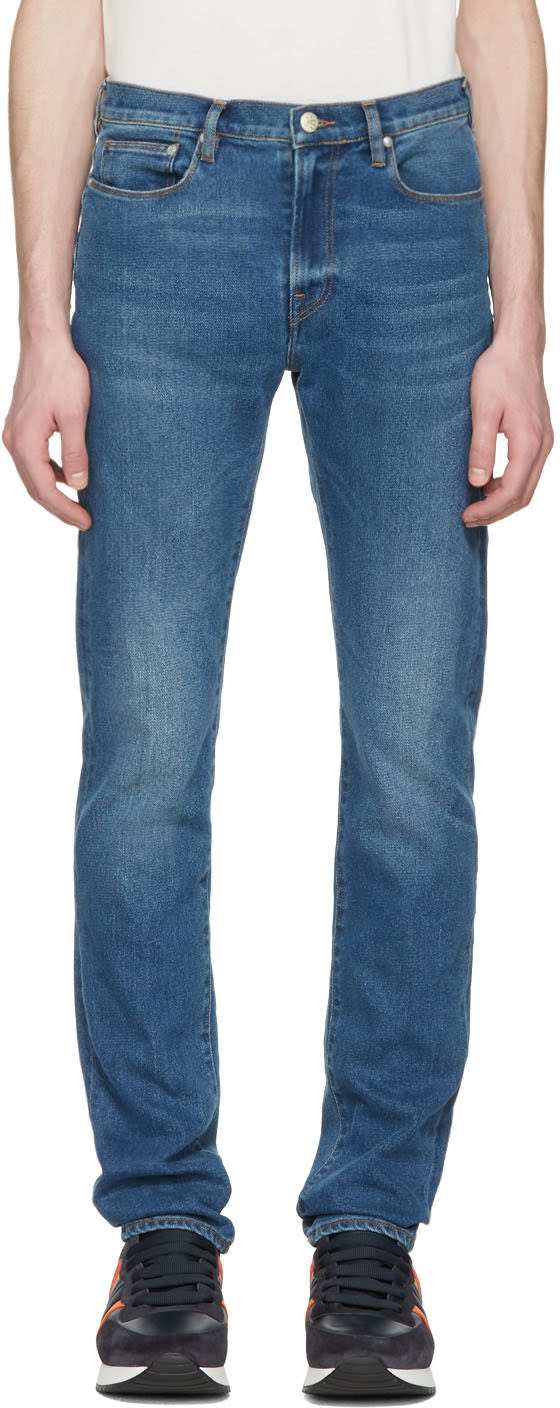 Ps By Paul Smith Blue Slim Jeans